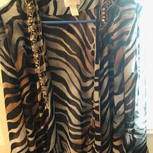 Chico's Sheer Animal Print